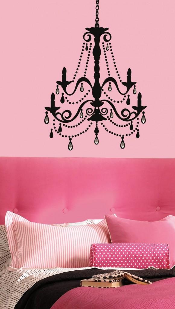 pink bedroom buy chandelier wall decal