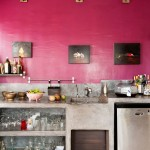 Modern Kitchen in Pink and Concrete
