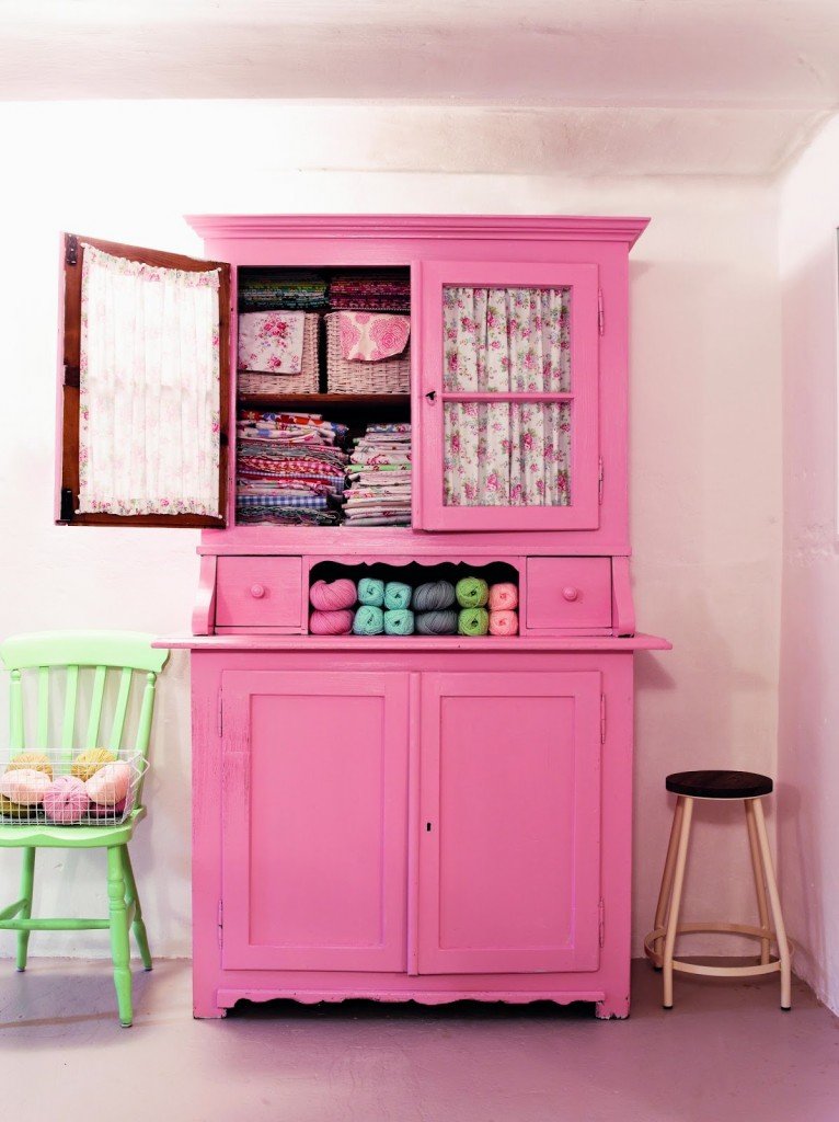 Pastel Pink Cabinet - Interiors By Color