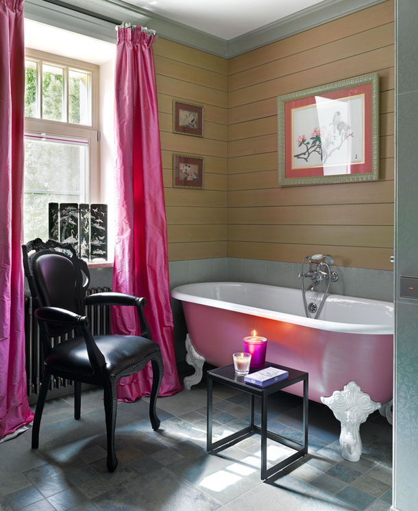 Pink Clawfoot Tub Interiors By Color
