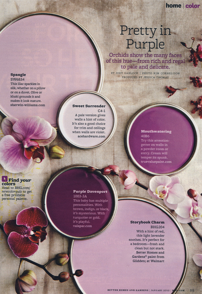 Pretty Purple Paint Colors Interiors By Color