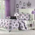 Purple and Black Damask Bedding