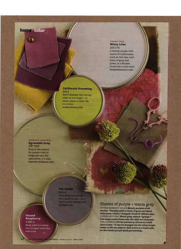 Purple And Warm Grey Paint Colors Interiors By Color