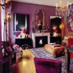 Boho Purple Living Room