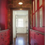Butler's Pantry in Red