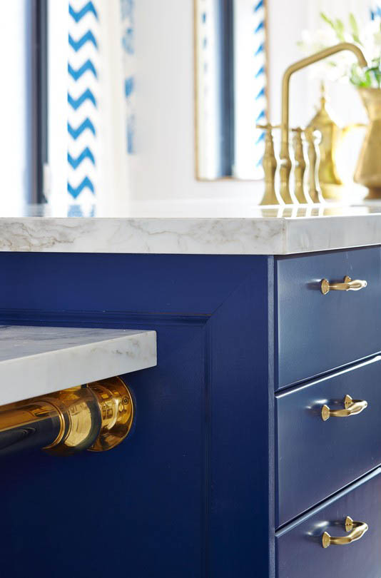 Royal Blue And Gold Kitchen 42 Westmoreland Ave
