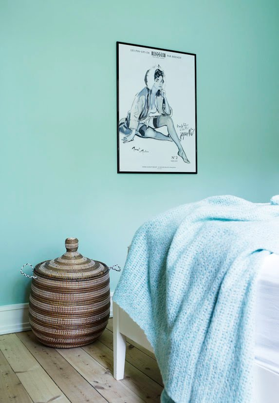 Scandinavian Mint Bedroom Interiors By Color