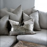 Silver Sequinned Pillow