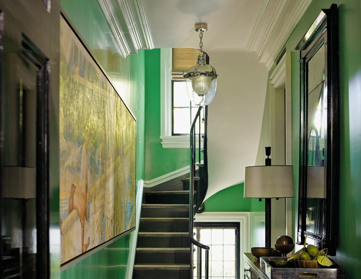 Calke Green Stairs Interiors By Color - Calke green farrow and ball