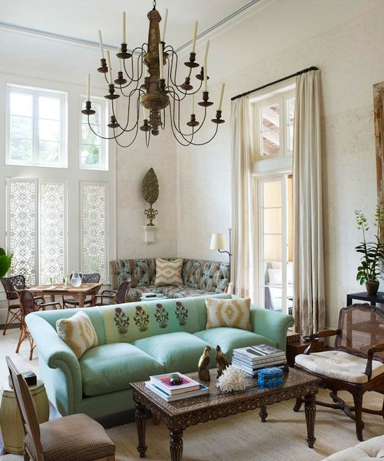 Antique And Mint Interiors By Color