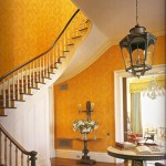 Traditional Orange Foyer