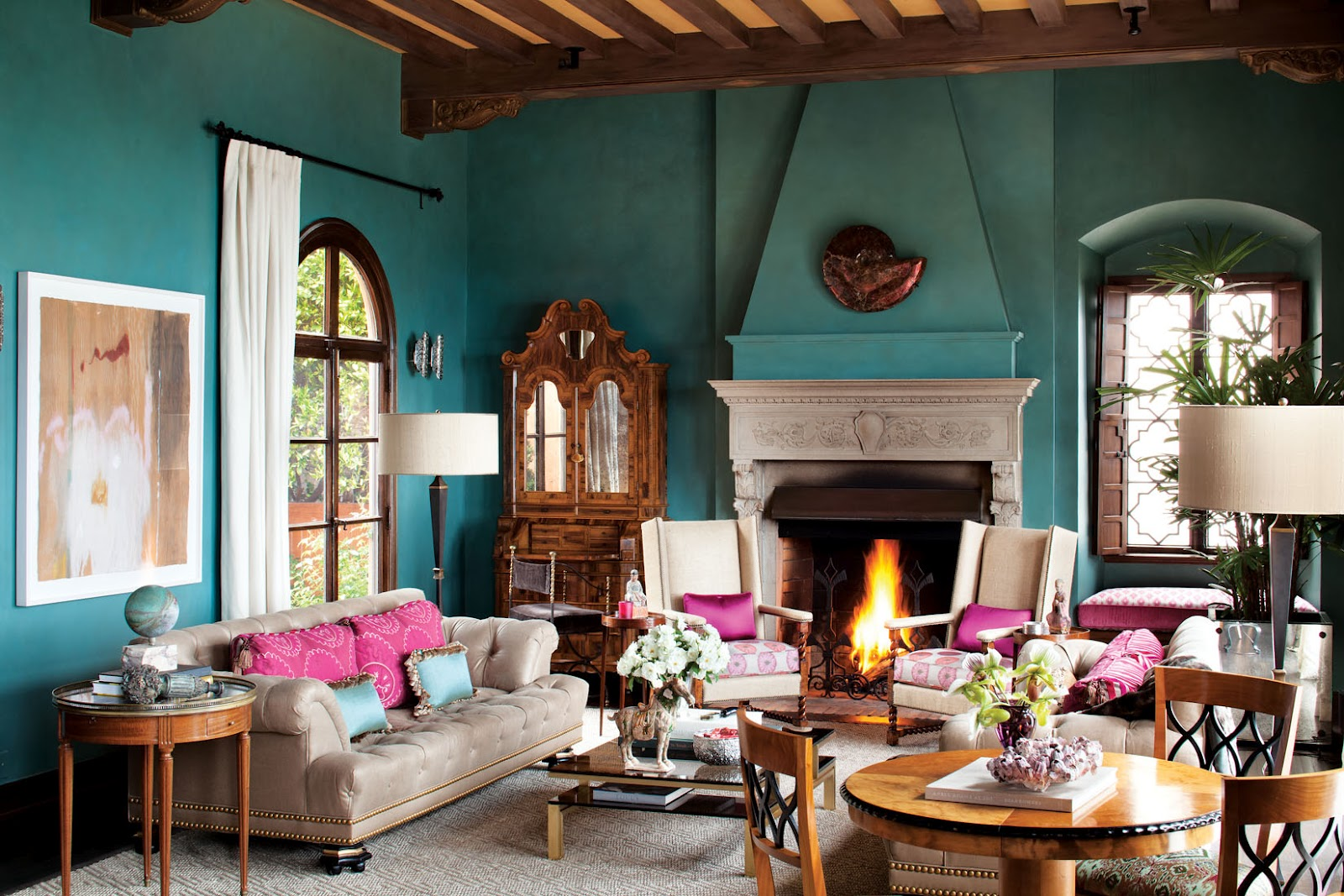 Spanish Moorish Living Room Interiors By Color
