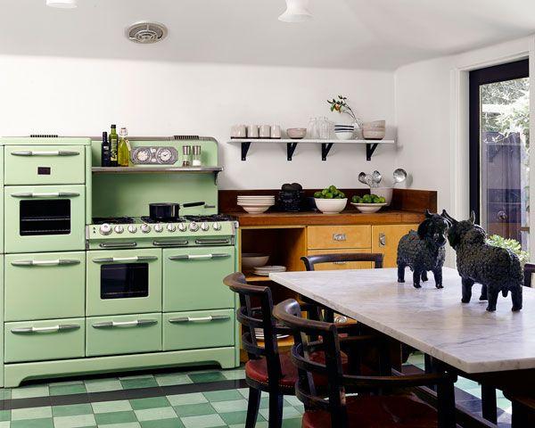 vintage mint stove