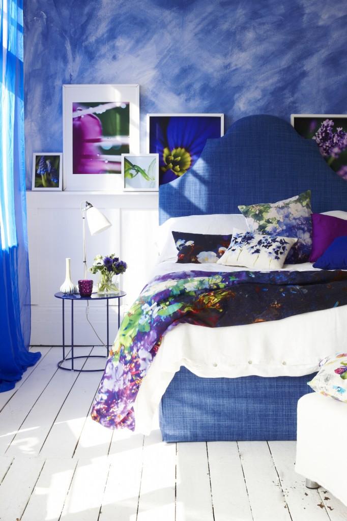 watercolor bedroom blue