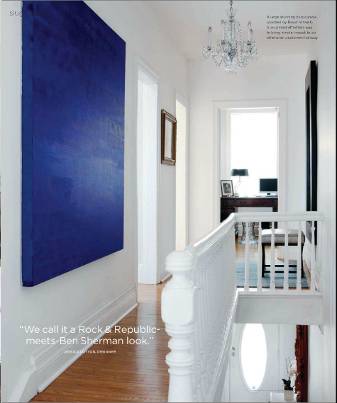 white blue clear stair