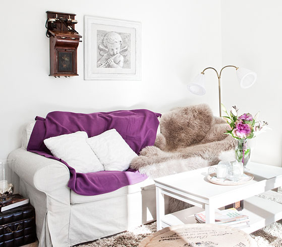 Scandinavian Purple Touch