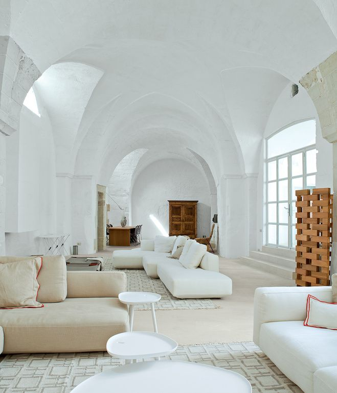 white vaulted ceiling living room