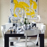 Yellow Abstract Art Dining