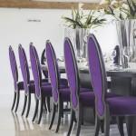 Octagonal Barn - Purple Seating