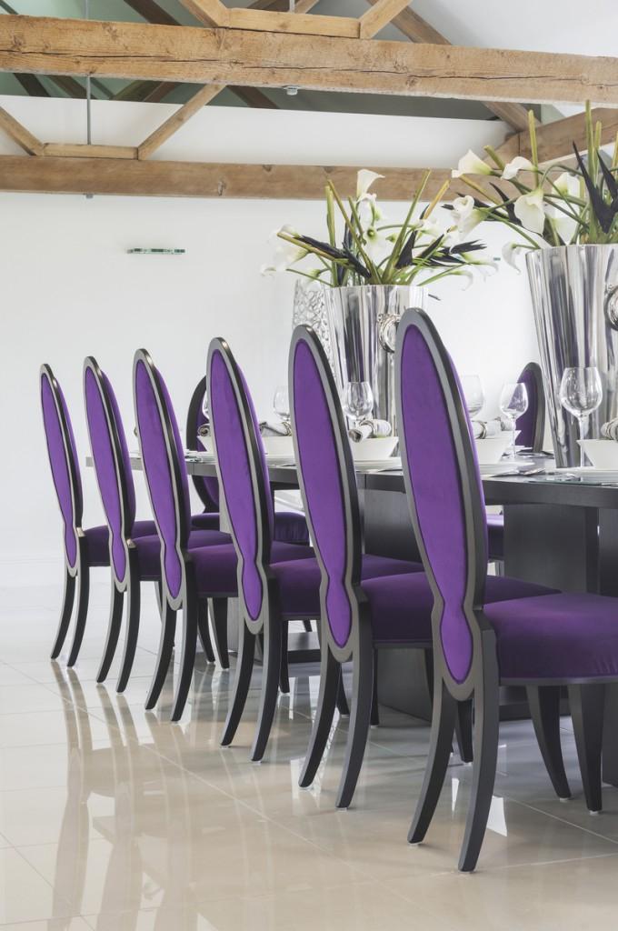 Berkshire Grade Two Octagonal Barn purple chairs