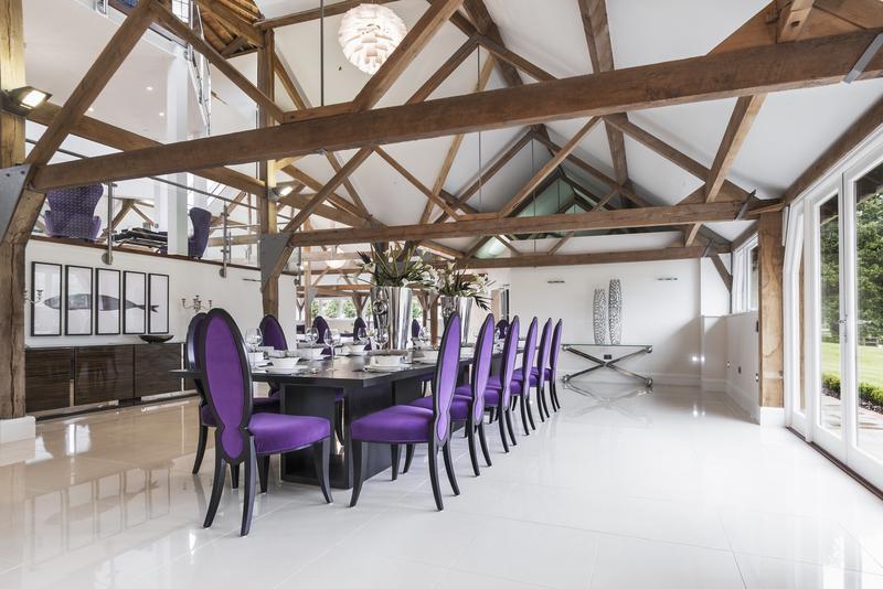 Berkshire Grade Two Octagonal Barn purple dining