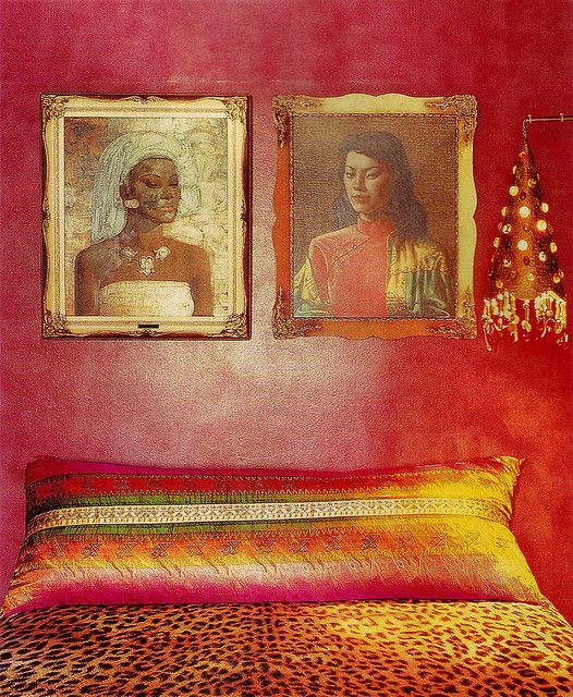 From Interiors Book 'Seeing Red' by Stephanie Hoppen