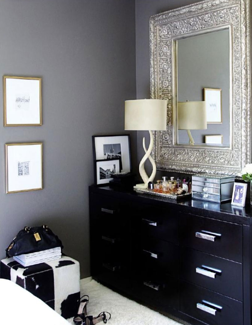 Luxe master bedroom interiors by color for Large master bedroom dresser