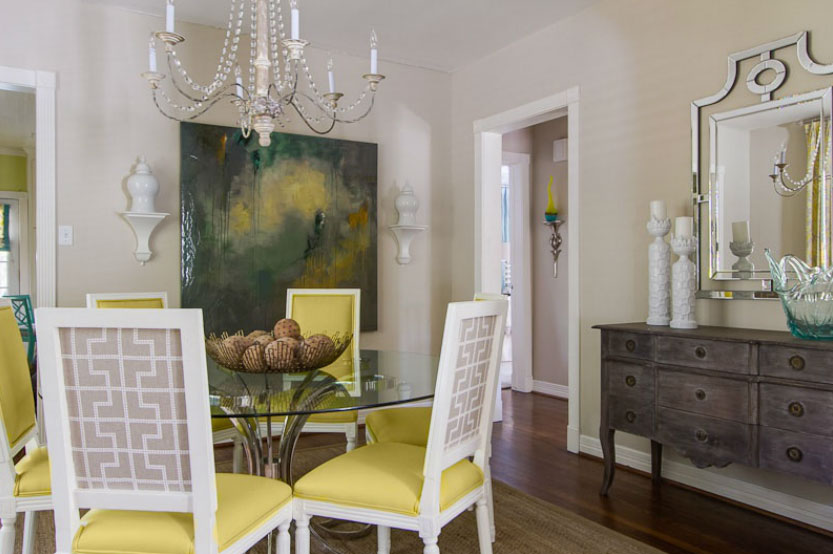 Aqua And Yellow Contemporary Living Interiors By Color