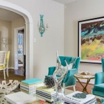 Aqua and Yellow Contemporary Living