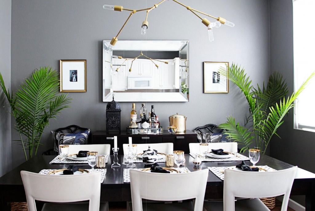 black-white-gold-dining