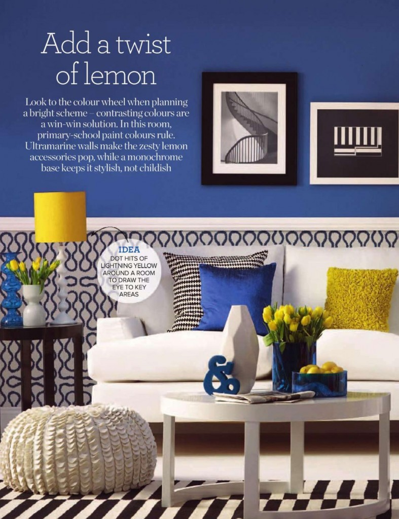 A lemon twist interiors by color for Modern living room yellow