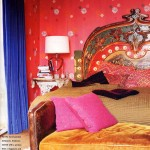 Red and Blue Boho Bedroom