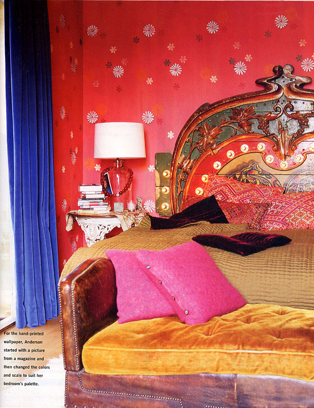 Red And Blue Boho Bedroom Interiors By Color