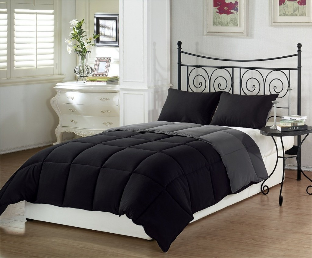 Black And Gray Comforter