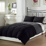 Comforter Bedding in Black and Gray