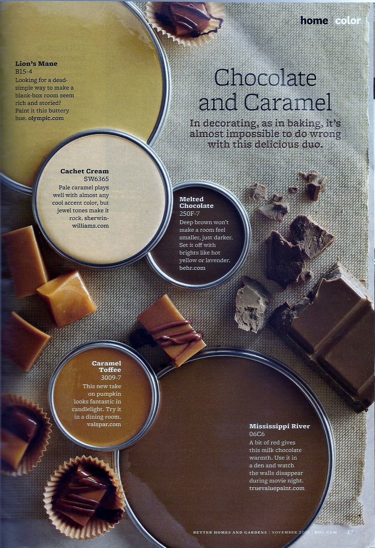 Chocolate And Caramel Paint Colors Interiors By Color