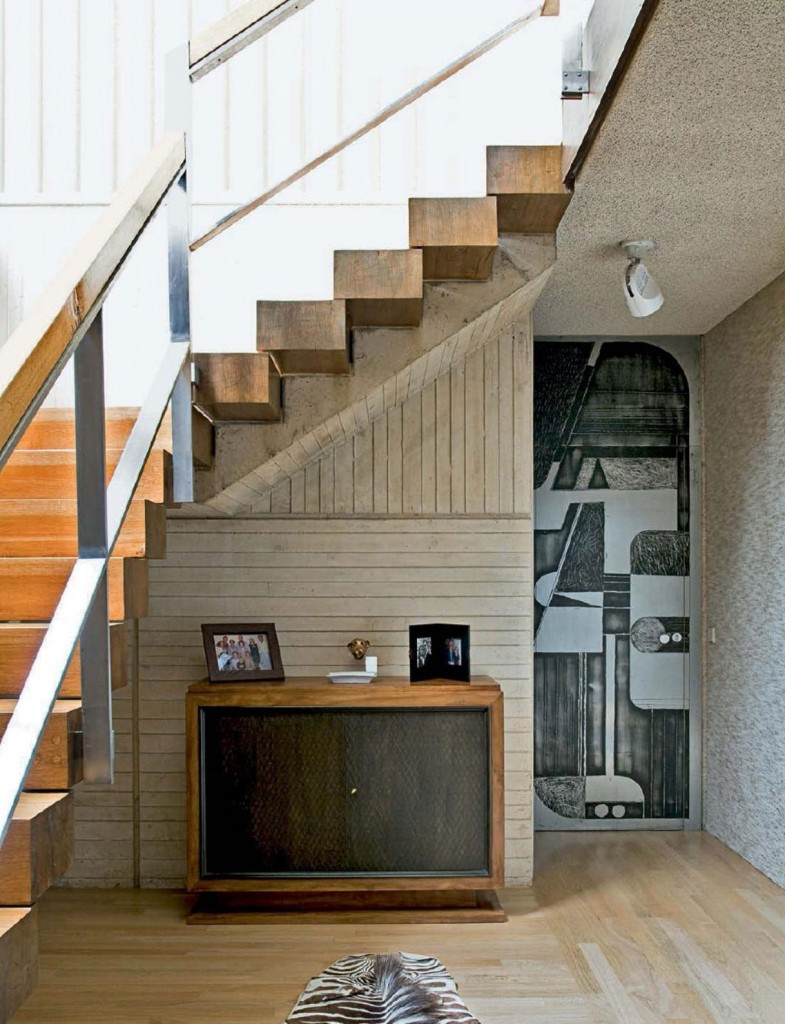 Concrete And Wood Stairs Interiors By Color