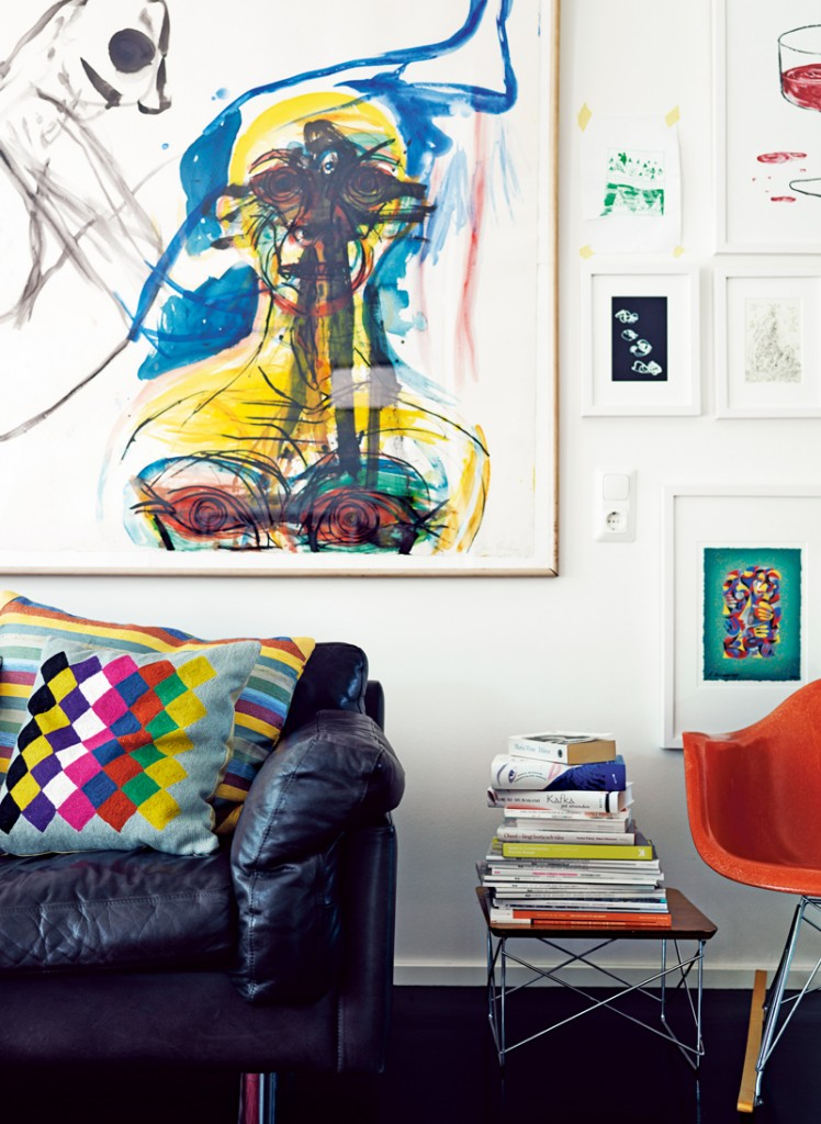 contemporary colorful living