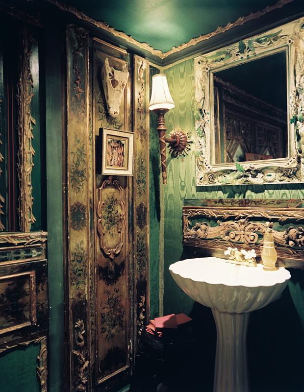 Emerald silk moire interiors by color for Emerald green bathroom accessories