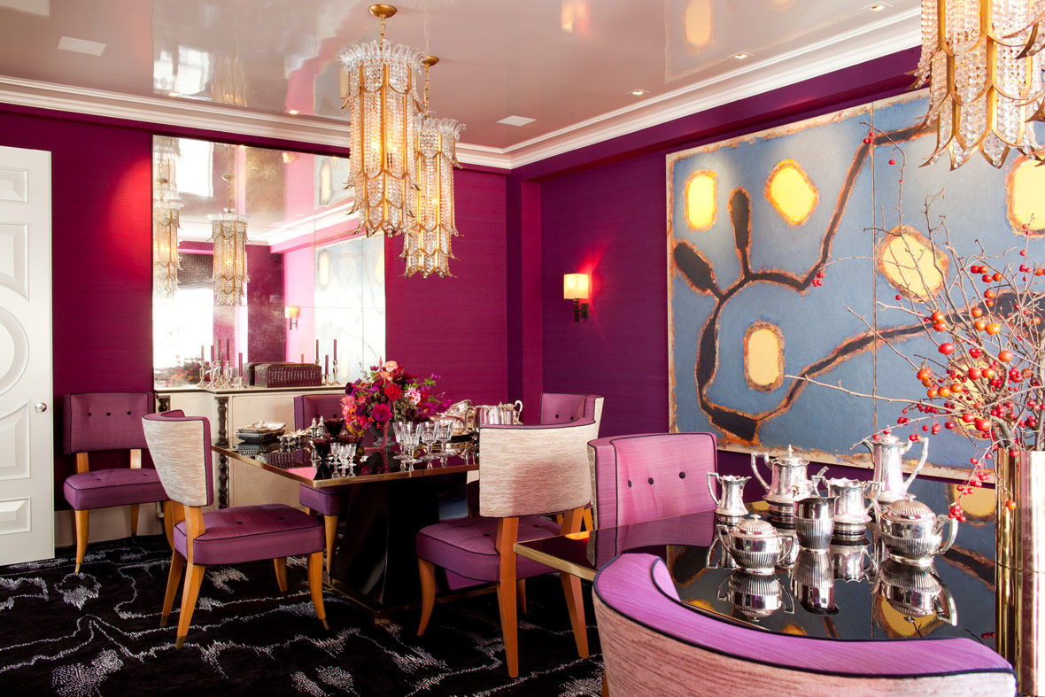 Glam Elements and Pink - Interiors By Color