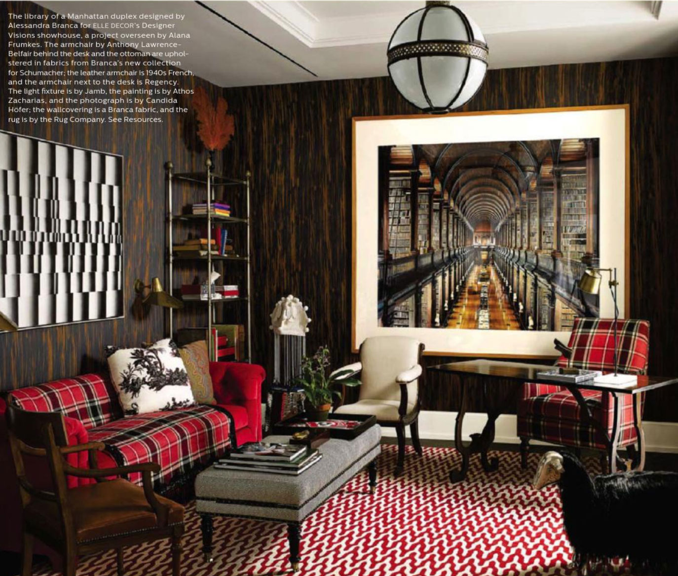 Curtains Home Interior: Elle Decor December 2013