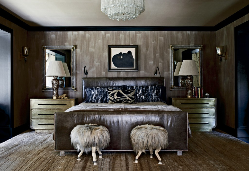 Brown And Gold Bedroom Interiors By Color