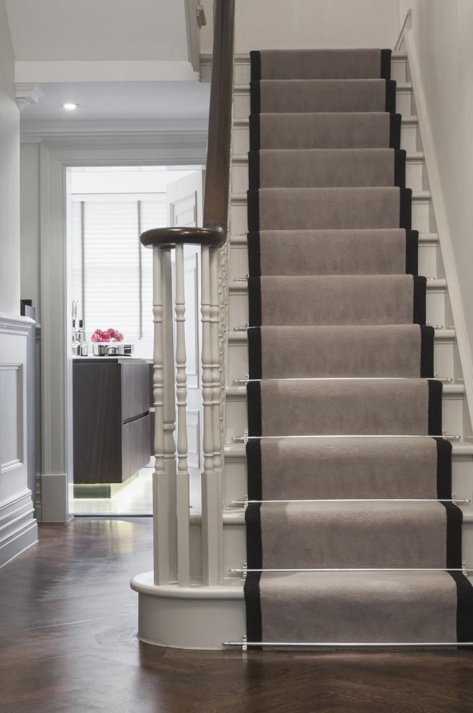 greige stairs