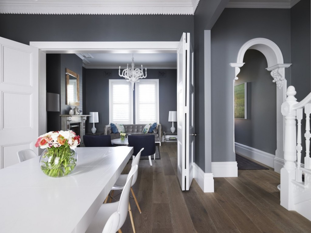 grey dining and living