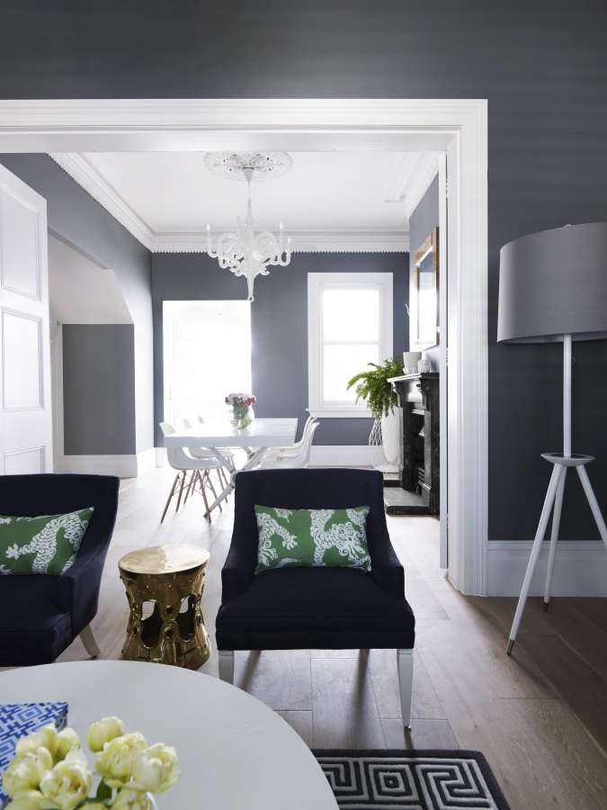 grey living and dining
