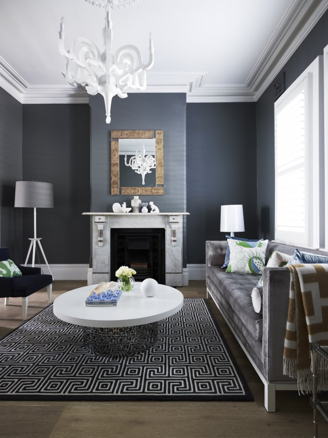 grey living space itnerior