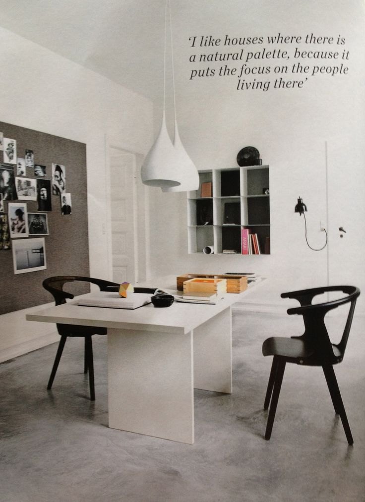 home offic studio in neutrals