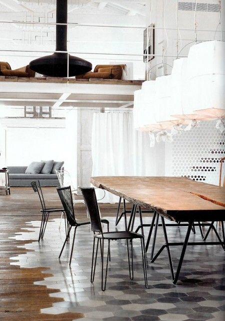Honey Comb Tiles and Floorboards
