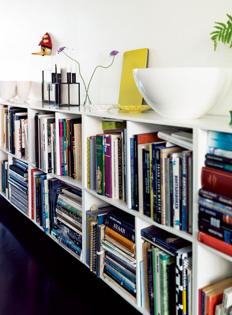 low bookshelves