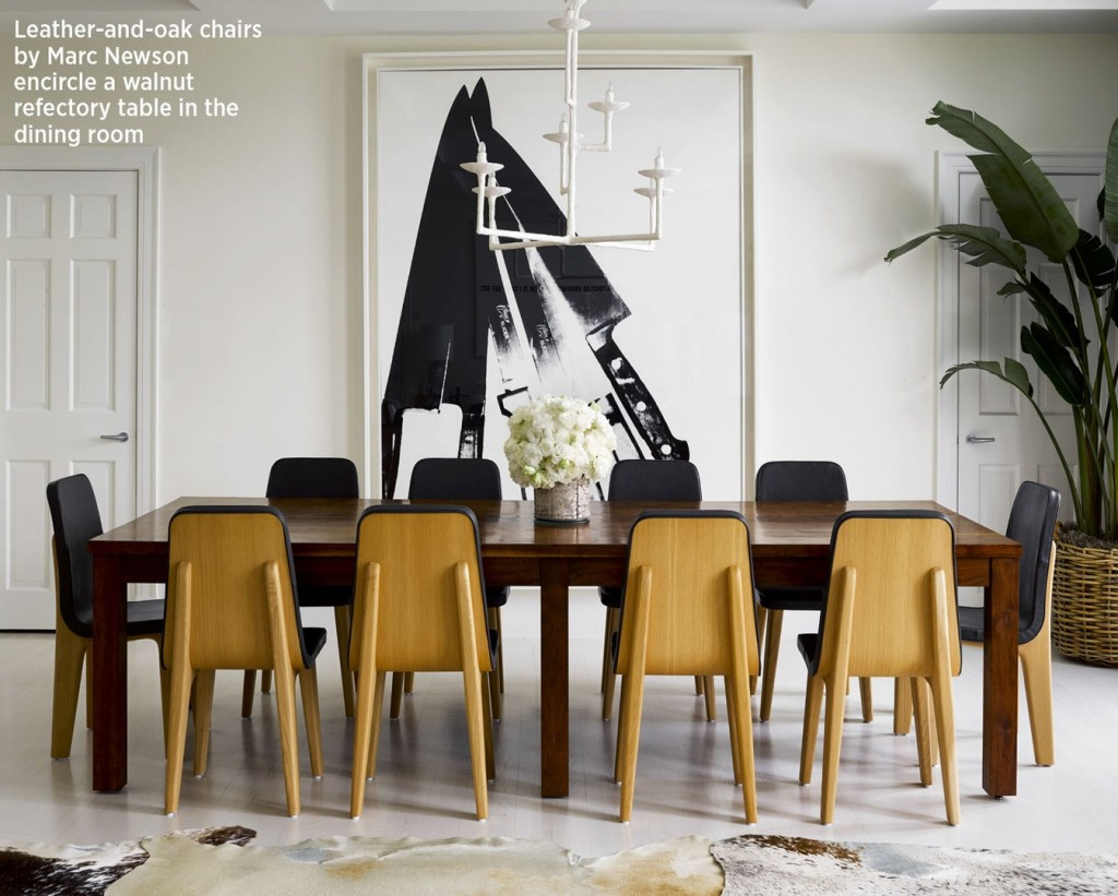marc newson leather and oak chairs